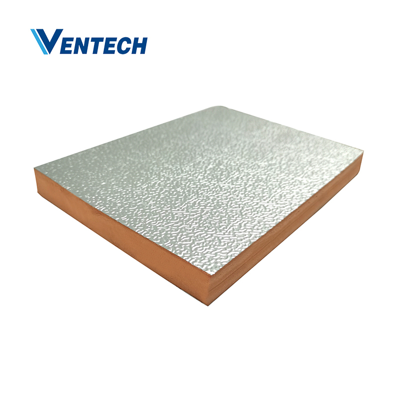 Hvac pre-insulated phenolic air duct panel