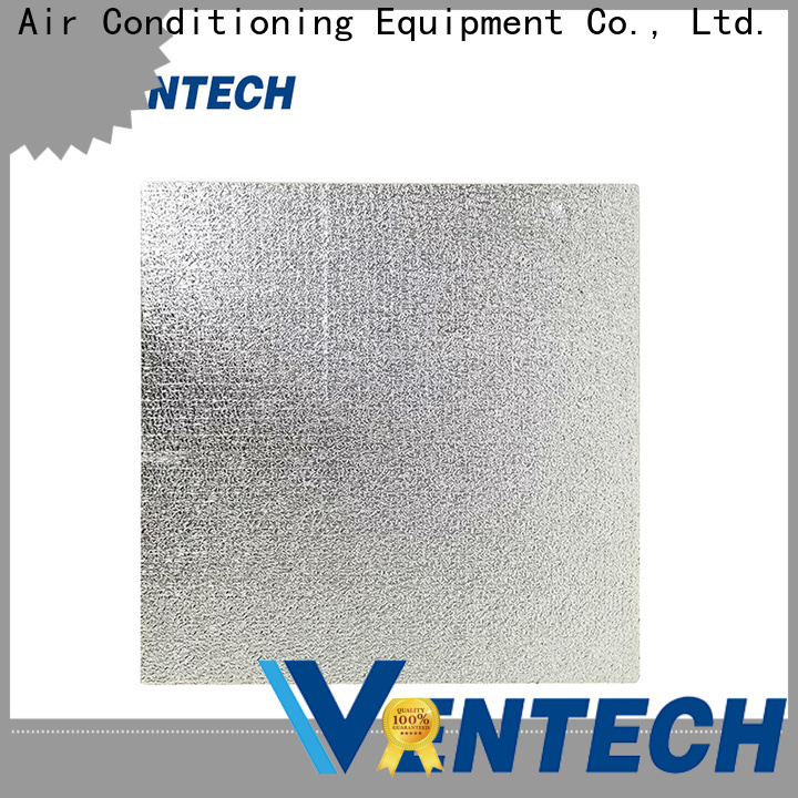 Ventech foil covered fiberglass duct board factory direct supply fast delivery