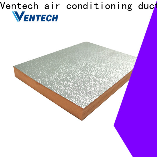 Ventech factory direct foil covered fiberglass duct board factory direct supply manufacturer